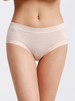 圣绯蕊 女净色宽筋亲肤内裤 舒适透气半平角底裤