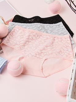 圣绯蕊 女中高腰蕾丝内裤 舒适亲肤半平角底裤