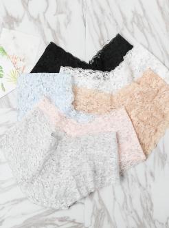 圣绯蕊 女半平角内裤 V型腰头性感透气蕾丝底裤