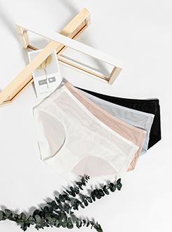 圣绯蕊 女半平角内裤 轻薄拼网无痕贴边底裤