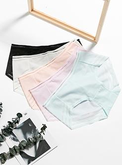 圣绯蕊 女半平角内裤 后幅锁边布柔滑亲肤底裤