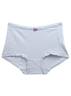 三福 女半平角内裤 轻薄竹节棉高腰收腹花边底裤