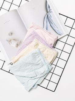 三福 女孕妇内裤 可调节扣弹力包臀罗纹高腰亲肤底裤