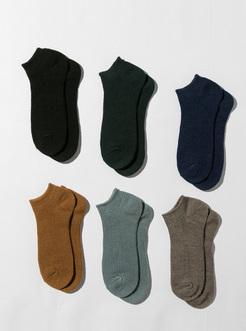 三福 男冬船袜一双装 净色经典坑条保暖低帮运动男袜子
