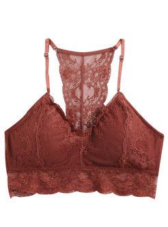三福 女秋吊带裹胸 时尚性感蕾丝花边美背打底背心