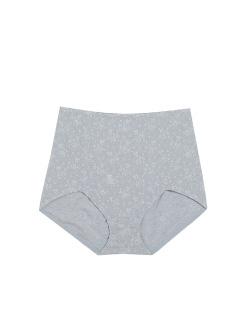 三福 女内裤 中高腰护腹提臀碎花贴身亲肤底裤