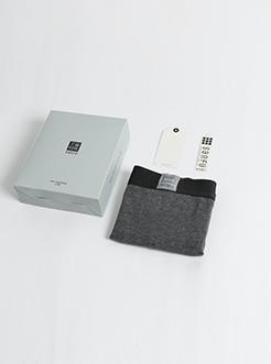 三福男平角内裤 净色干爽棉质四角底裤 两条礼盒装