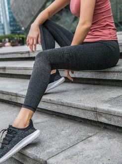 三福2019春裝新品女彈力高腰緊身褲 運動瑜伽打底褲女
