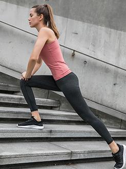 三福2019春装新品女美背运动背心 带胸杯瑜伽服上衣女