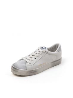 三福2019女春学生街头潮流做旧系带脏脏鞋休闲女鞋