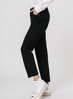 三福2019春装新品女半松紧腰头休闲裤 简约棉质哈伦裤女