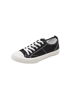 三福2019男春学生简约齿轮纹系带低帮板鞋休闲帆布男鞋