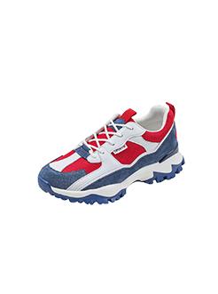 三福2019女春学生复古撞色系带运动鞋休闲跑步女鞋