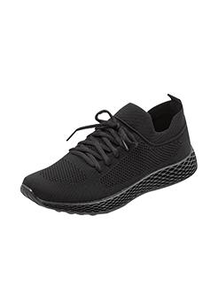 三福2019女春学生简约纯色果冻底柔软跑步鞋运动女鞋
