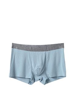 三福 男平角內褲 莫代爾桑蠶絲無痕貼邊簡約純色四角底褲