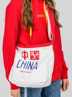 三福2019女春学院系列拼接撞色帆布单肩斜挎包女包