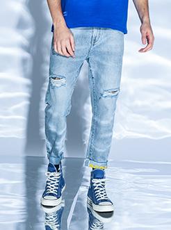 SANFU经典棉牛仔裤ABS068-2-WD