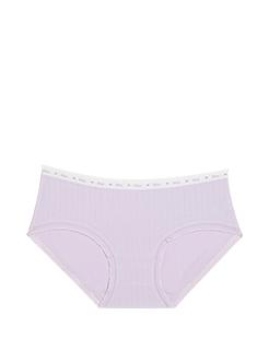 三福 女低腰半平角内裤 简约字母腰头舒适贴身底裤