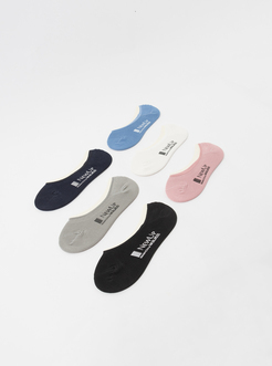 三福 男船袜一双装 简约字母印花精梳棉隐形袜子