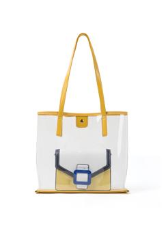 三福时尚TPU包袋透明DQ2361拼色子母袋