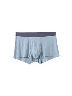 三福 男平角內褲 暗格提花撞色腰頭簡約四角底褲