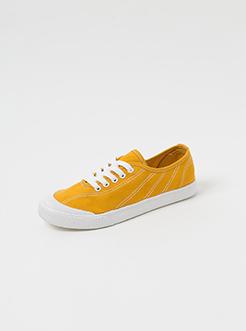 三福2019女夏學院風簡約休閑低幫洗水帆布鞋板鞋女鞋