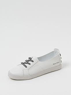 三福2019女夏學院風休閑淺口低幫彈力板鞋運動鞋女鞋