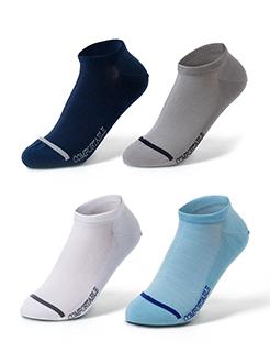 三福 男船袜一双装桑蚕丝凉感防掉跟隐形袜子