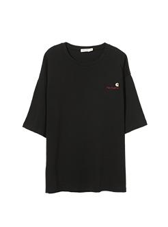 三福2019夏装新品男胸前刺绣短袖T恤 休闲宽松上衣男