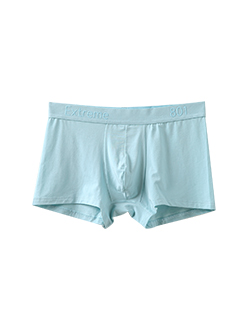 三福 男中腰平角內褲 簡約純色舒適彈力四角底褲