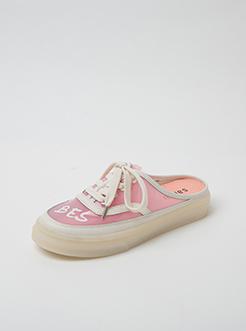 三福2019女夏時尚印花果凍底無后跟懶人板鞋女鞋