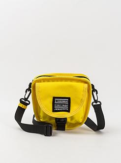 三福2019女夏潮牌系列帆布拉链半圆插扣单肩包挎包女包