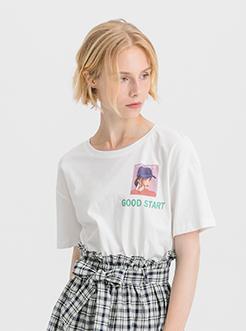 三福2020夏裝新品女格子拼接短裙 荷葉邊收腰甜美裙子女