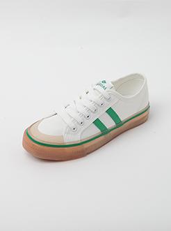 三福2019女夏學院風ins潮流復古原宿果凍底板鞋女鞋