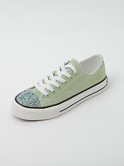 三福2019女夏學院風韓版潮流格利特低幫板鞋帆布鞋女鞋