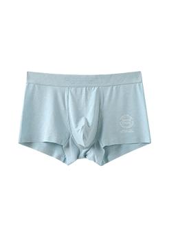 三福 男中腰平角內褲 無痕貼邊圓標印花彈力四角底褲