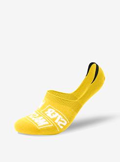 三福 男船袜1双装 英文字母印花精梳棉隐形运动男袜子