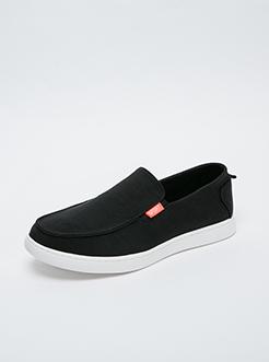 三福2019男夏學院風韓版情侶款簡約低幫板鞋帆布鞋男鞋