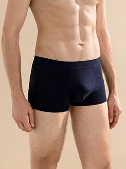 三福 男平角内裤3条组合装 立体格子舒适棉柔四角男内裤