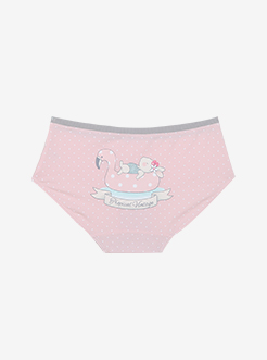 三福 女中腰三角内裤 甜美印花柔软舒适贴身内裤