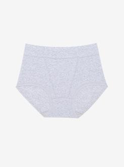 三福 女高腰半平角内裤 唯美花边成熟少妇柔软舒适内裤