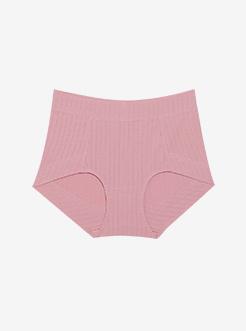 三福 女高腰半平角内裤 纯色成熟少妇柔软舒适内裤