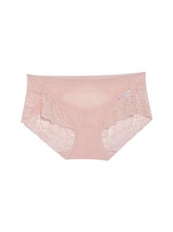 三福 女中腰三角内裤 性感蕾丝后幅交叉舒适贴身内裤