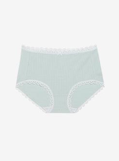 三福 女高腰三角内裤 简约基础性感蕾丝舒适贴身内裤