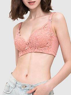三福 薄C杯無鋼圈文胸 簡約性感蕾絲花邊舒適內衣