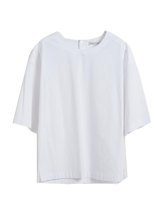 三福2019秋裝新品男純色圓領短袖T恤 時尚休閑上衣男